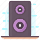 loudspeaker, output device, sound, sound speaker, sound system icon