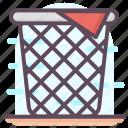 basket, clothes basket, clothes hamper, laundry basket, voider icon