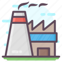 air pollution, chimney pollution, industry smoke, nuclear factory, power plant icon