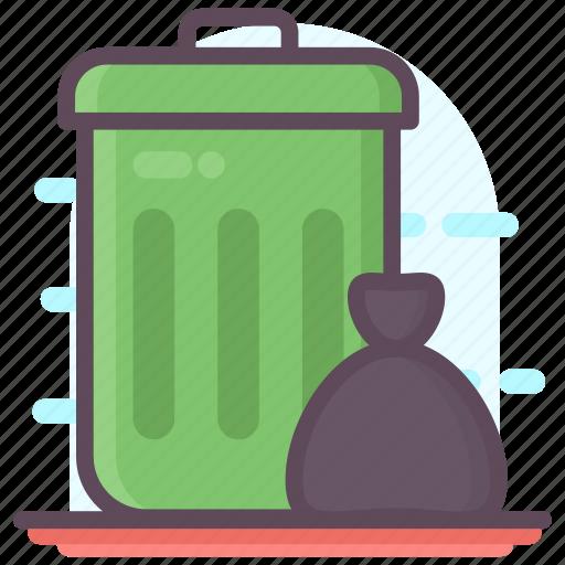dustbin, garbage can, recycle bin, rubbish bin, trash bin, waste bin icon