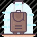 baggage, luggage, tourist bag, traveling bag, trolley bag icon