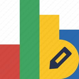 analytics, bar, chart, edit, graph, report, statistics icon