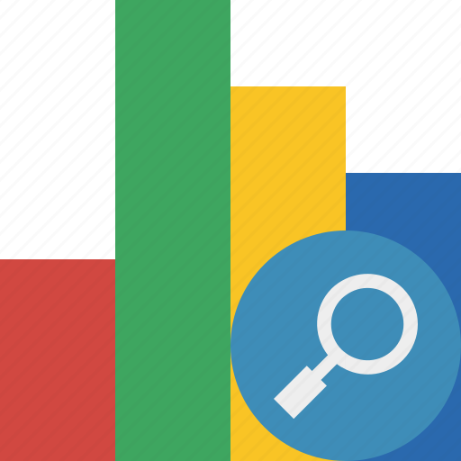 analytics, bar, chart, graph, report, search, statistics icon