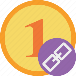 cash, coin, currency, finance, link, money icon