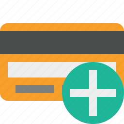 add, buy, card, credit, debit, money, payment icon