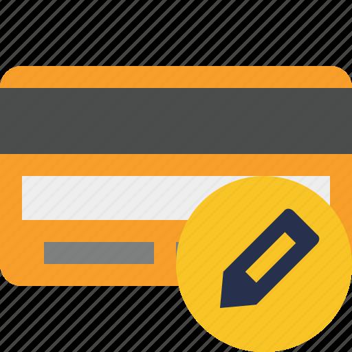 buy, card, credit, debit, edit, money, payment icon