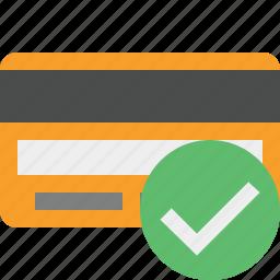 buy, card, credit, debit, money, ok, payment icon