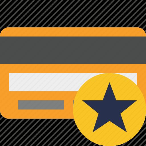buy, card, credit, debit, money, payment, star icon