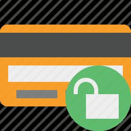buy, card, credit, debit, money, payment, unlock icon