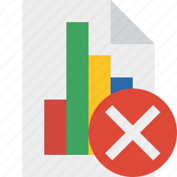 bar, cancel, chart, document, file, graph, report icon