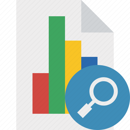 bar, chart, document, file, graph, report, search icon