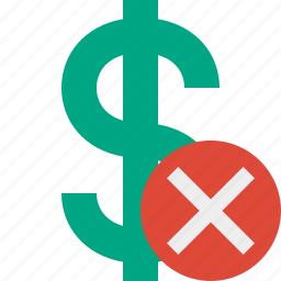 business, cancel, cash, currency, dollar, finance, money icon