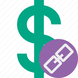 business, cash, currency, dollar, finance, link, money icon