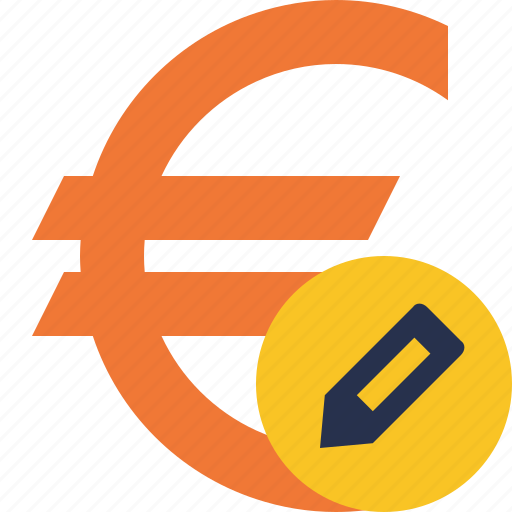 business, cash, currency, edit, euro, finance, money icon