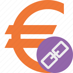 business, cash, currency, euro, finance, link, money icon