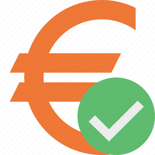 business, cash, currency, euro, finance, money, ok icon