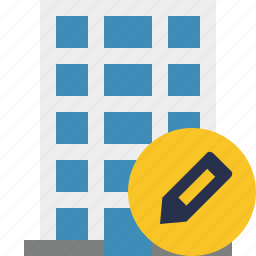 building, business, company, edit, estate, house, office icon
