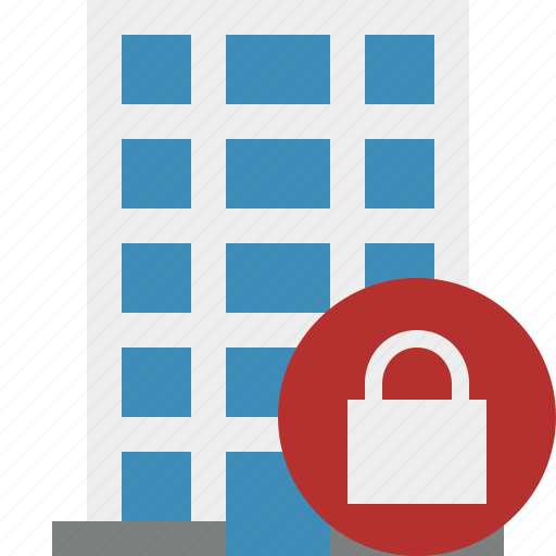building, business, company, estate, house, lock, office icon