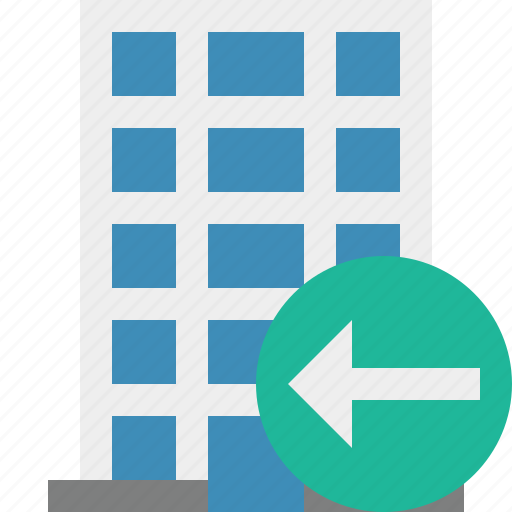 building, business, company, estate, house, office, previous icon