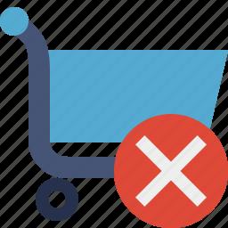 buy, cancel, cart, ecommerce, shop, shopping icon