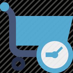 buy, cart, clock, ecommerce, shop, shopping icon