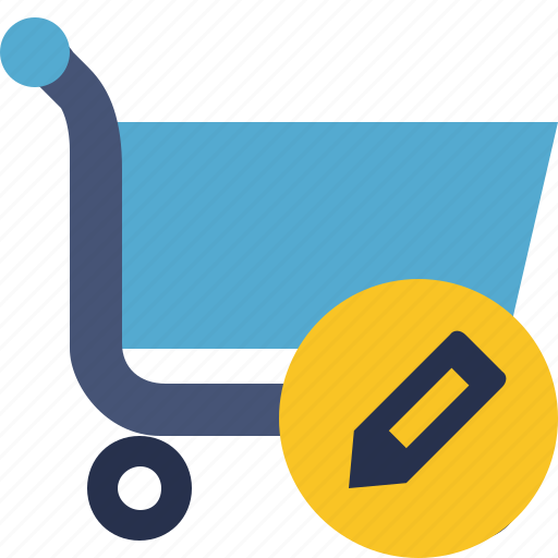 buy, cart, ecommerce, edit, shop, shopping icon