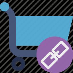 buy, cart, ecommerce, link, shop, shopping icon