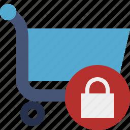 buy, cart, ecommerce, lock, shop, shopping icon