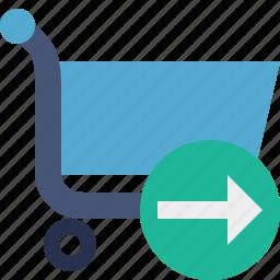 buy, cart, ecommerce, next, shop, shopping icon