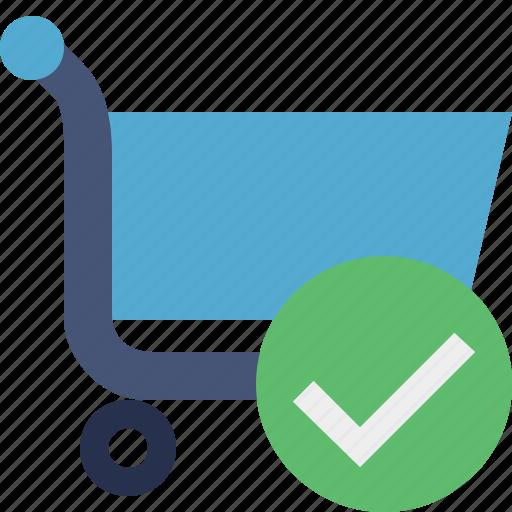 buy, cart, ecommerce, ok, shop, shopping icon