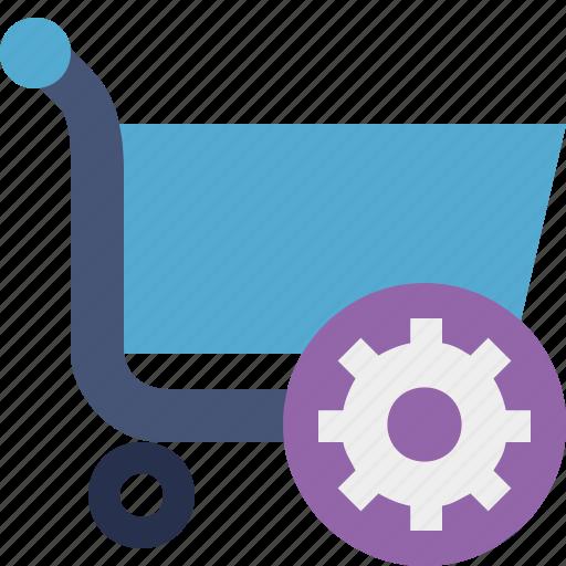 buy, cart, ecommerce, settings, shop, shopping icon