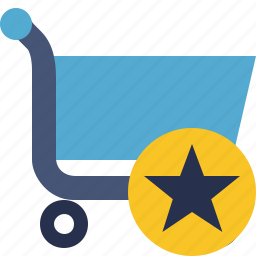 buy, cart, ecommerce, shop, shopping, star icon
