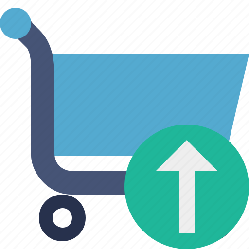 buy, cart, ecommerce, shop, shopping, upload icon