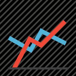 business, chart, graph, spot chart icon
