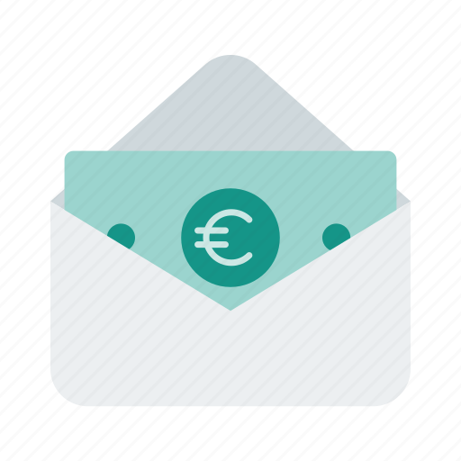 cash, email, envelope, euro, icon, letter, money icon
