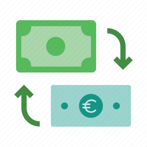 banking, currency, exchange, icon, money icon