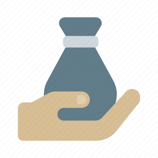 bag, bank, currency, give, icon, money, payment icon
