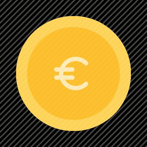 cash, coin, euro, icon icon