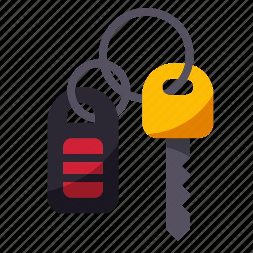 car, key, lock, remote, wireless icon