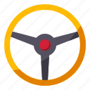 car, horn, part, steering, wheel icon