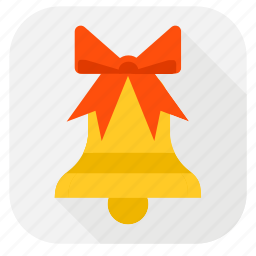 alarm, bell, christmas, christmas bell, clock, present, ring, schedule, time, timer, winter icon