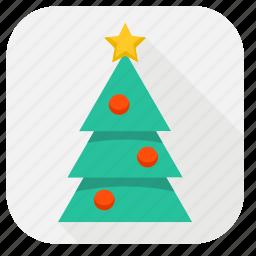 celebration, christmas, christmas tree, decoration, holiday, santa, tree, winter, xmas icon