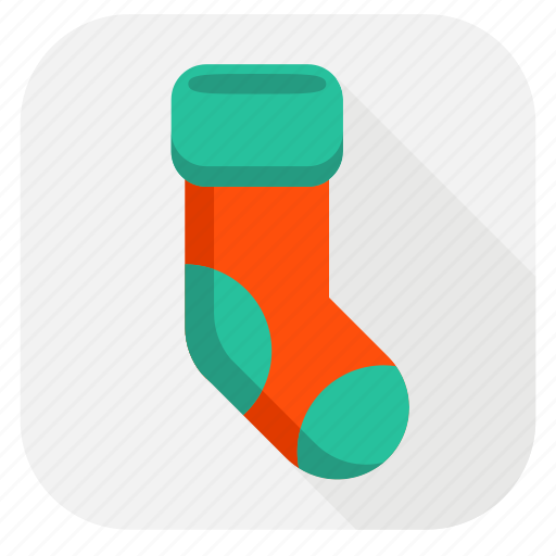 christmas sock, sock, temperature, weather, winter icon