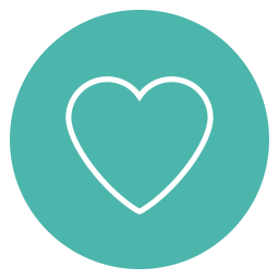 circle, content, favorite, heart, love icon