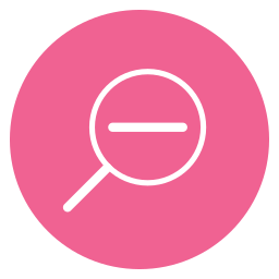 circle, content, minus, search, thin, zoom, zoom out icon