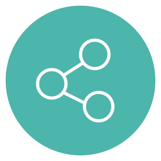Circle, content, network, share, social icon - Free download