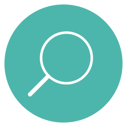 circle, content, edit, line, magnifying glass, search, thin icon
