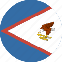 samoa, american, flag, circle icon