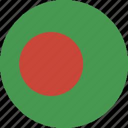 bangladesh, circle, flag icon
