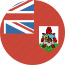 bermuda, circle, flag icon